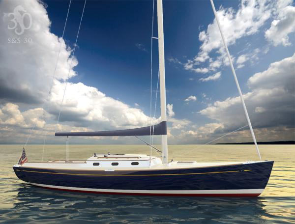 Sparkman & Stephens S&S 30 Blue hull profile