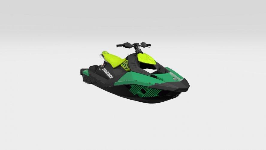 Sea-Doo Spark Trixx 3up Quetzal / Manta Green 90