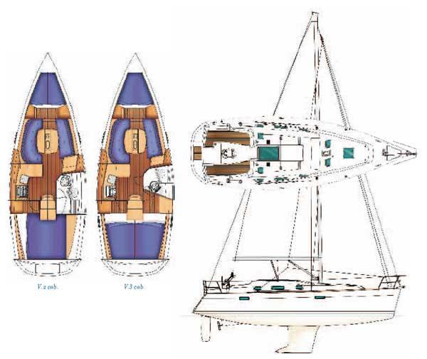 Beneteau Oceanis Clipper 343 Manufacturer Provided Image: Plan