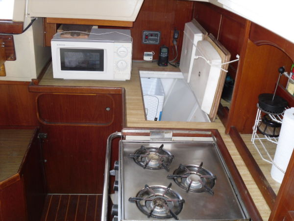 Galley Looking Aft.