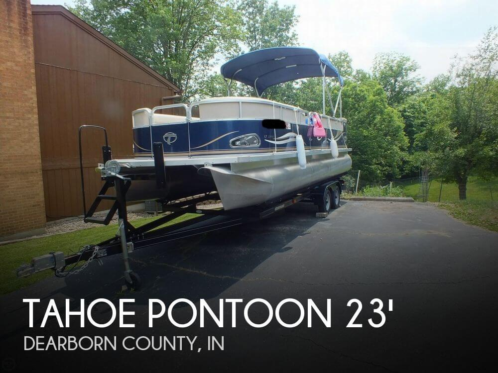 Used power boats tahoe boats for sale for Used fishing pontoon boats for sale