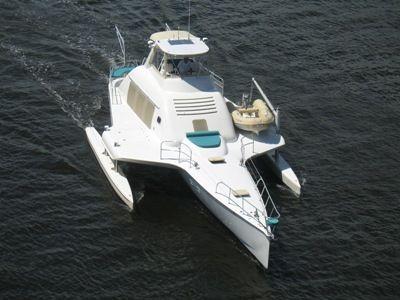 64' Multihull overhead forward profile