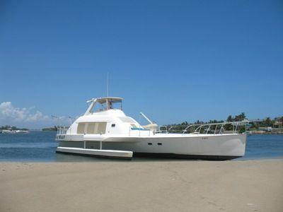 64' Multihull starboard forward profile