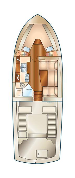 Mainship Pilot 34 Manufacturer Provided Image: Layout