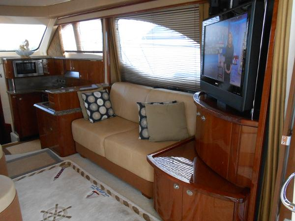 Starboard sofa and entertainment