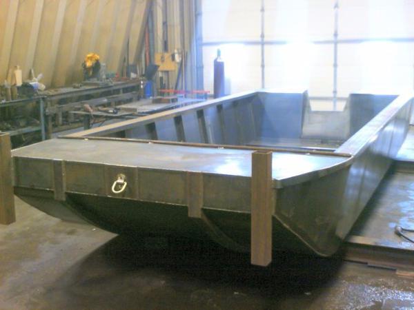 CUSTOM BUILT 2015 20' x 8' Steel Flat Bottom Work Boat