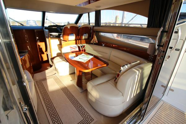 Princess 42 Starboard Saloon Seating