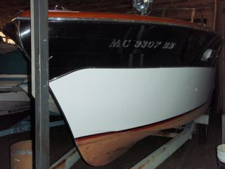 Gleaming hull sides