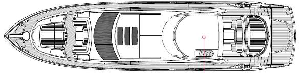 Sunseeker Predator 84 Exterior Layout Plan