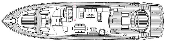 Sunseeker Predator 84 Main Deck Layout Plan