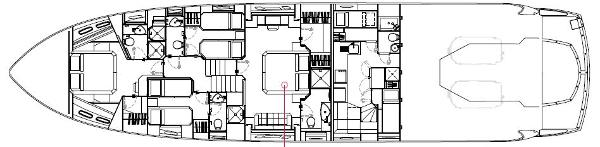 Sunseeker Predator 84 Lower Deck Layout Plan