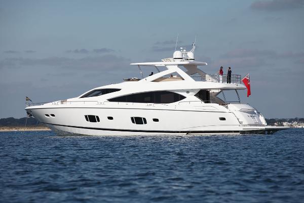Sunseeker 88 Yacht Side View