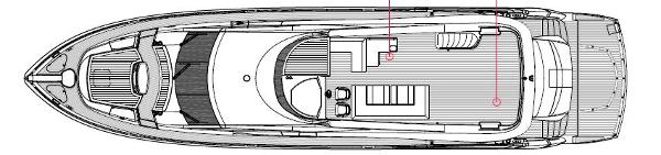 Sunseeker 88 Yacht Flybridge Layout Plan