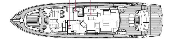 Sunseeker 88 Yacht Main Deck Layout Plan