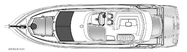 Sunseeker Mahattan 53 Exterior Layout Plan