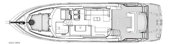 Sunseeker Mahattan 53 Main Deck Layout Plan