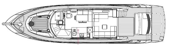 Sunseeker Manhattan 63 Main Deck Layout Plan