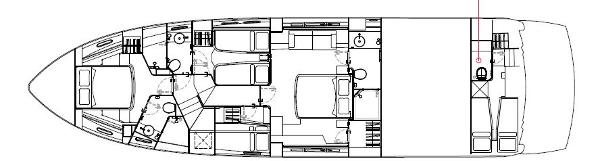 Sunseeker Manhattan 63 Lower Deck Layout Plan