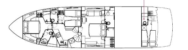 Sunseeker Manhattan 63 Lower Deck Galley Option Layout Plan