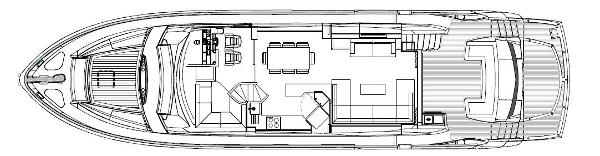 Sunseeker Manhattan 73 Main Deck Layout Plan