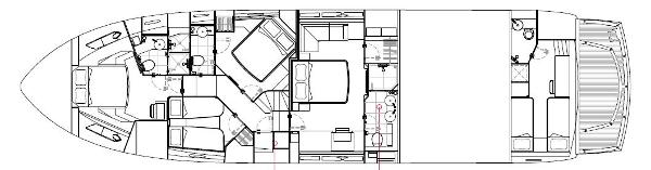Sunseeker Manhattan 73 Lower Deck Layout Plan