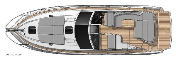 Thumbnail Sunseeker Portofino 40 Exterior Layout Plan