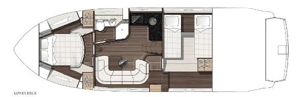Thumbnail Sunseeker Portofino 40 Lower Deck Layout Plan