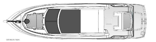 Sunseeker Predator 53 Exterior Layout Plan