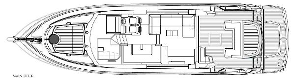 Sunseeker Predator 53 Main Deck Layout Plan