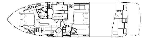 Sunseeker Predator 53 Lower Deck Layout Plan