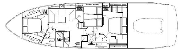 Sunseeker Predator 60 Lower Deck Layout Plan