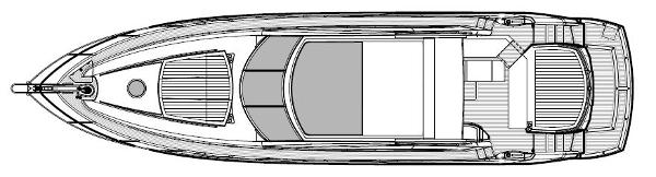 Sunseeker Predator 64 Exterior Layout Plan