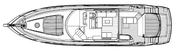 Sunseeker Predator 64 Main Deck Layout Plan