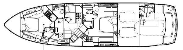 Sunseeker Predator 64 Lower Deck Layout Plan