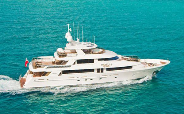 Westport 130 Tri-Deck Yacht  Profile Starboard