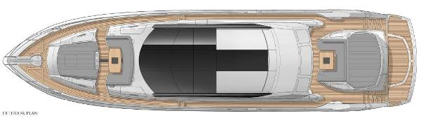 Sunseeker Predator 80 Exterior Layout Plan