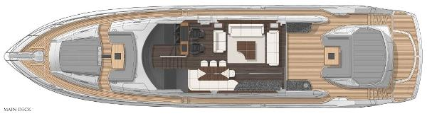 Sunseeker Predator 80 Main Deck Layout Plan