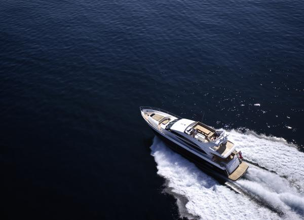 Princess Flybridge 72 Motor Yacht View From Above