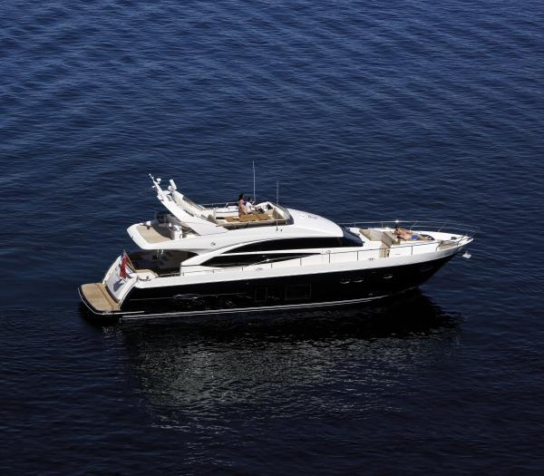 Princess 72 Motor Yacht Manufacturer Provided Image: Princess 72 Motor Yacht Side View
