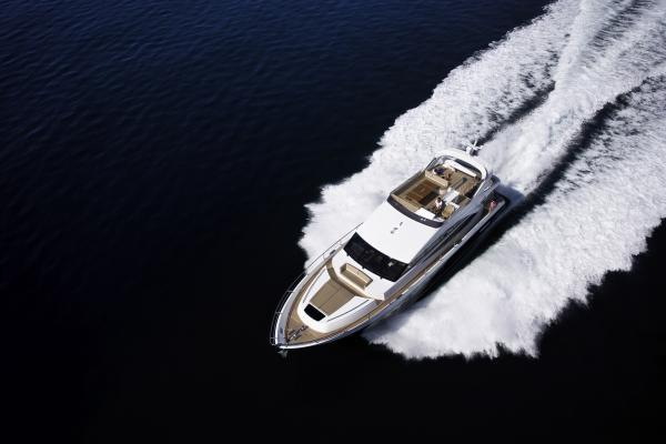 Princess Flybridge 72 Motor Yacht Aerial View