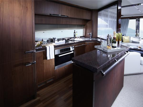 Princess Flybridge 72 Motor Yacht Galley
