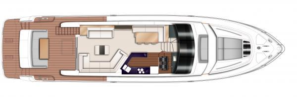 Princess Flybridge 72 Motor Yacht Main Deck Layout Plan