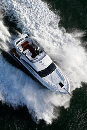 Princess Flybridge 43 Motor Yacht Aerial View