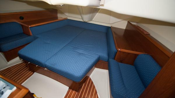 Spacious aft owner's cabin