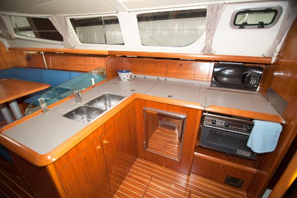 L Shaped spotless galley