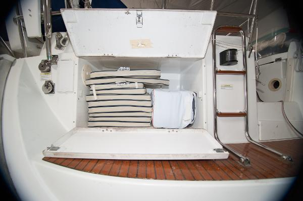 Ample aft storage