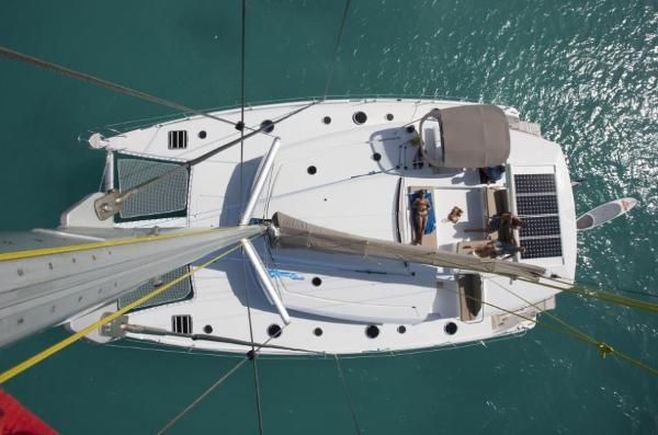Fountaine Pajot Sanya 57 Aerial View