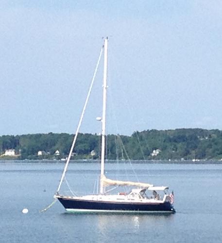 Sabre 38 MKII moored