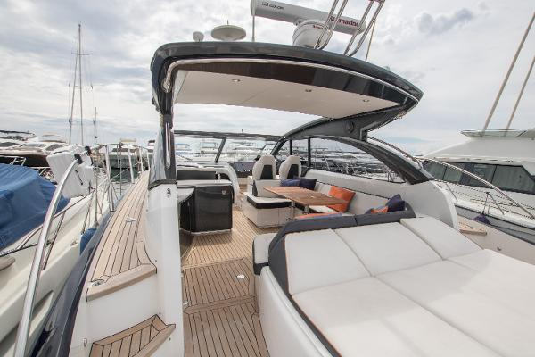 Princess V48 Open Cockpit and Sunbeds