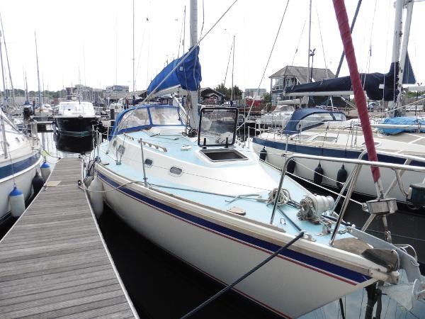 Westerly Fulmar 32 Home berth.